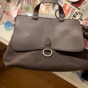 Grey Leather & Suede Rebecca Minkoff Handbag